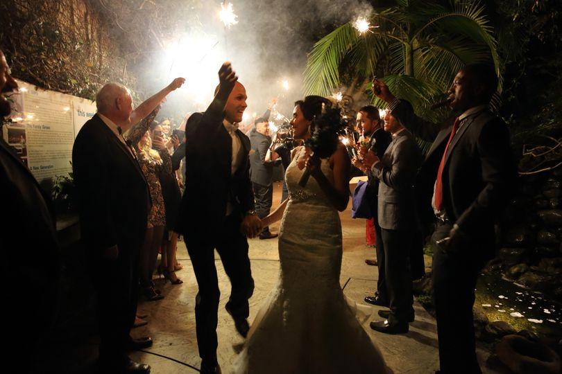 Wedding Sparklers grand exit