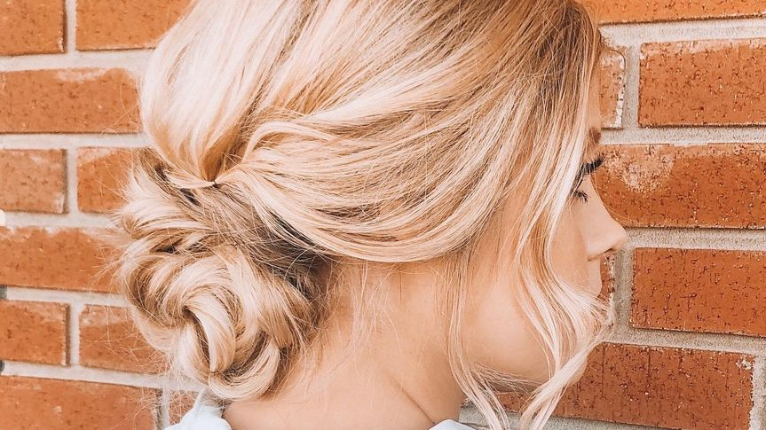 Classy and soft updo