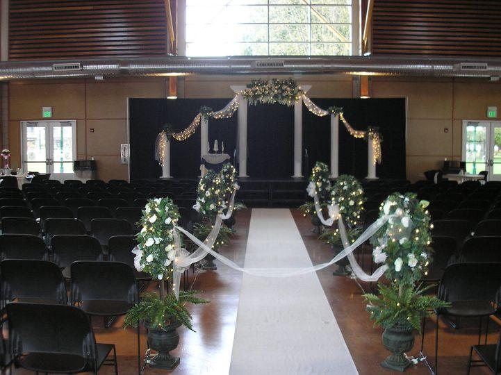 Indoor ceremony.