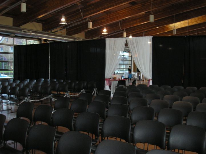 Chairs for ceremony.