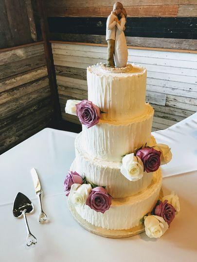 Four layered cake
