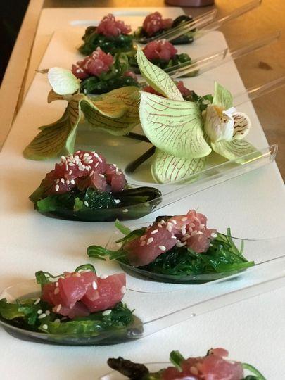 Ahi and Seaweed Salad