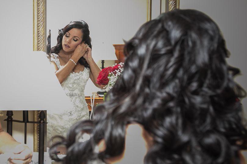 Curly dark hair