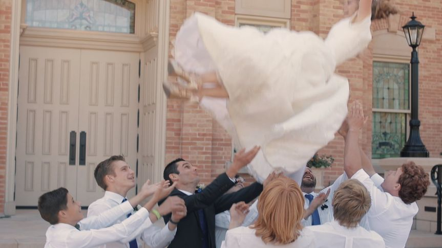 And yes, yes brides can fly
