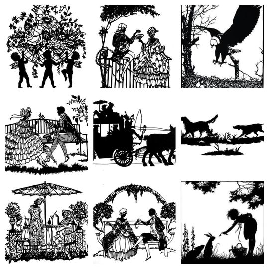 Example silhouette scenes