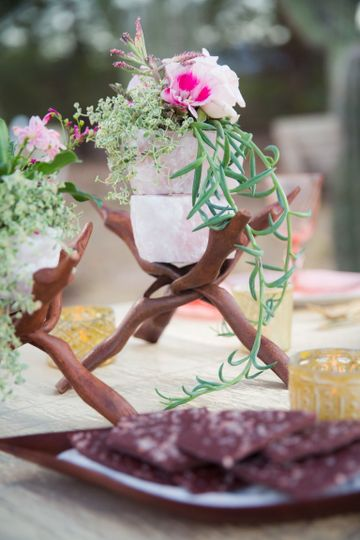 Himalayan & Rose Quartz Styled Shoot at Cactus Joes Blue Diamond Nursery, Las Vegas, NV...
