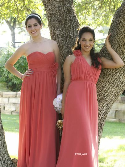 Deep pinkish red dresses