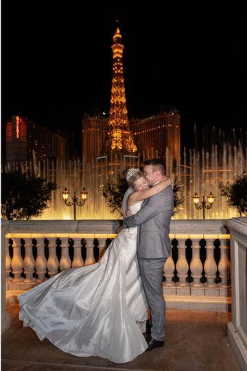 Bellagio Wedding fountain view