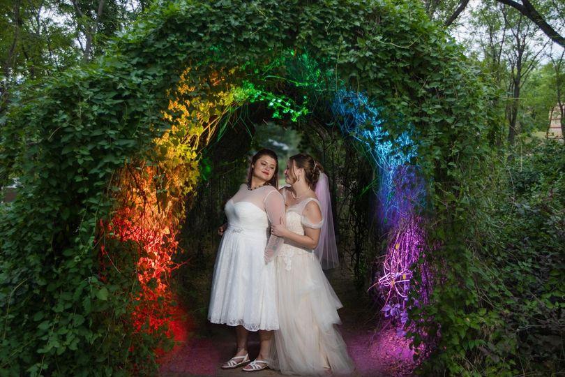 Lesbian Rainbow wedding