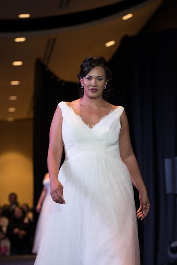 On the runway, Uptown Bride shows off what it has to offer