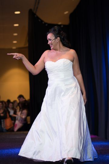 On the runway, Uptown Bride has dresses for size 2 to 32