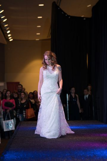 On the runway, Uptown Bride has dresses in stock