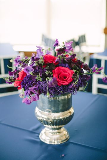 Colorful centerpiece in a vase