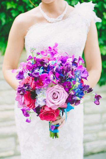 Bright purple bouquet