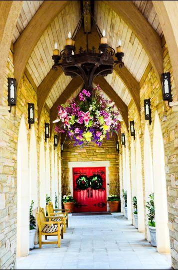 Chandelier flower decoration