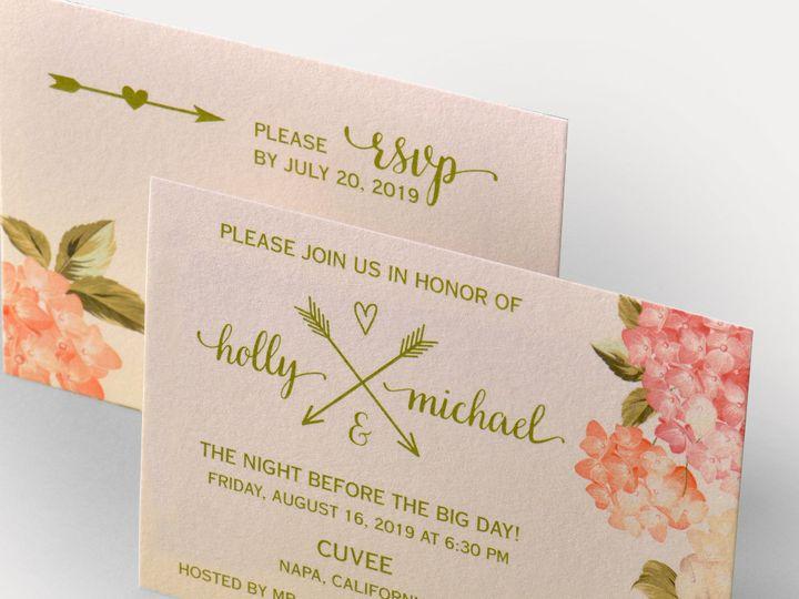 Tmx 1507836092562 2400b Blush Copy Newtown, New York wedding invitation