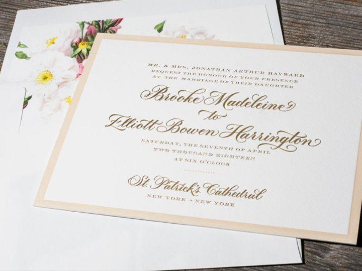 Tmx 1507836146076 Chatsworth Copy Newtown, New York wedding invitation