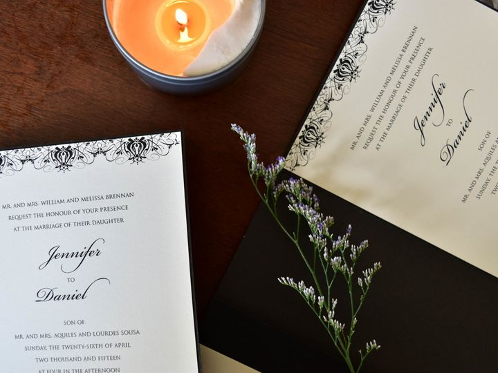 Tmx 1515608138 F7bc85f55960d1e9 1515608132 0d163c98939ae3b5 1515608118599 32 July21 Bride 19 Newtown, New York wedding invitation