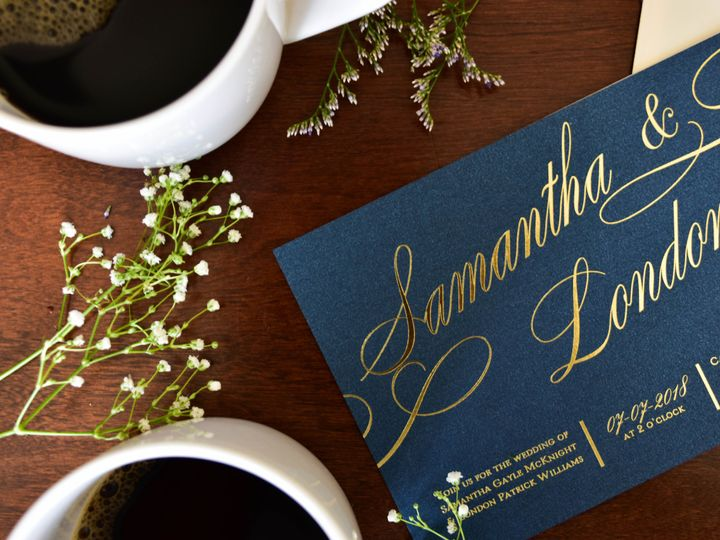 Tmx 1515608143 87aa0e7c825778bc 1515608135 18a217fdf74e8c26 1515608118610 38 July21 Bride 25 Newtown, New York wedding invitation