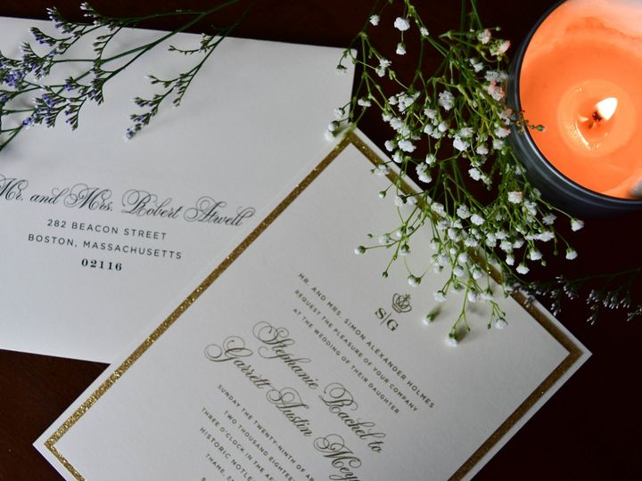 Tmx 1515608184 6b917e7c460263ce 1515608132 6a6861e8cba59e4d 1515608118597 31 July21 Bride 18 Newtown, New York wedding invitation