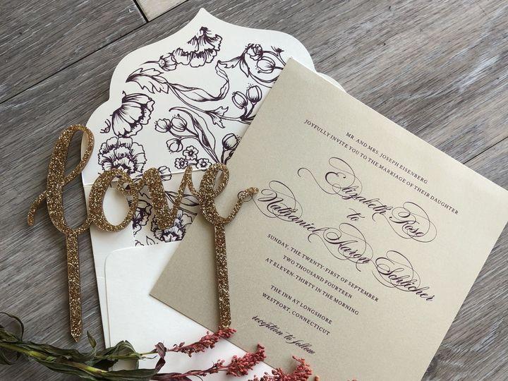 Tmx 1529607757 4d508424907b4109 1529607731 08b5c5c04e42ad49 1529607729247 17 IMG 3290 Newtown, New York wedding invitation