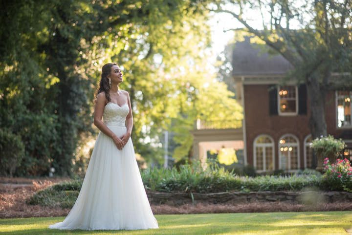 Bride at the lawn