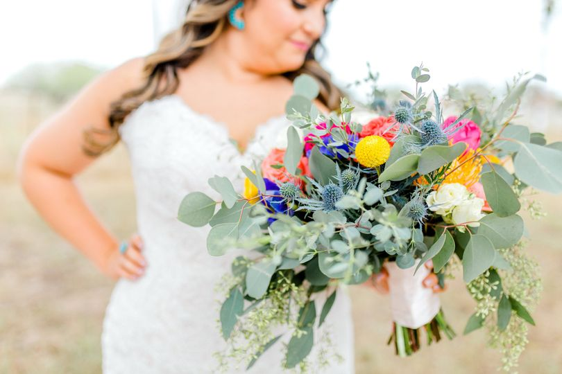 A bride with bouquet