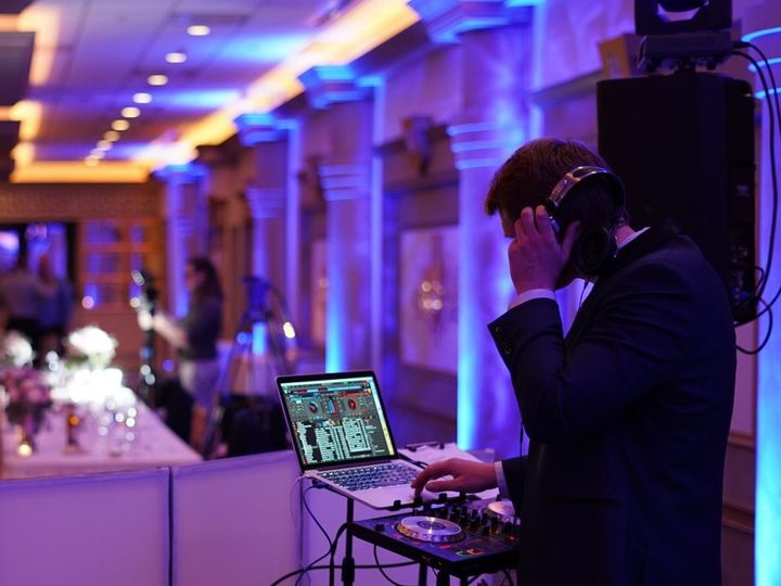 Tmx Great Photo With Dj And Uplights At Westin Book Cadilac 51 743351 1565635459 Royal Oak, MI wedding dj