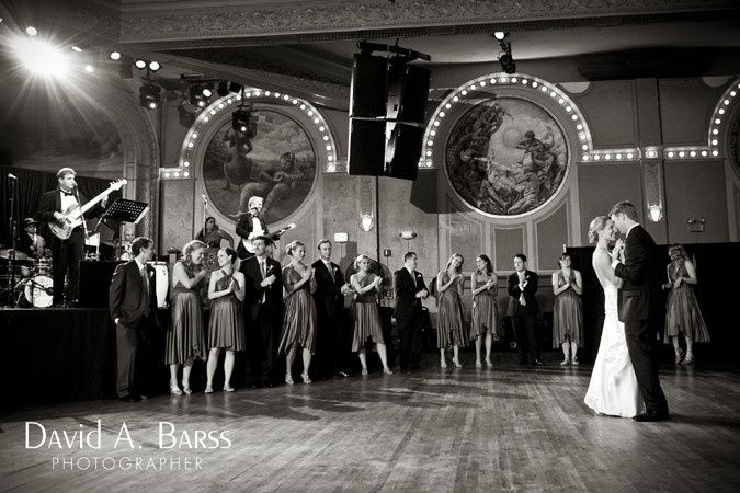 Wedding at The Crystal Ballroom in Portland with the Pressure Point Band