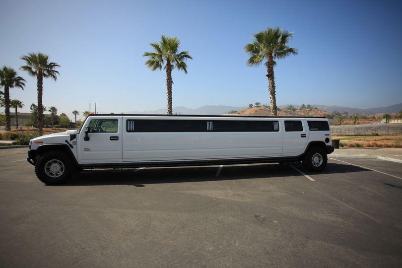 White limo van
