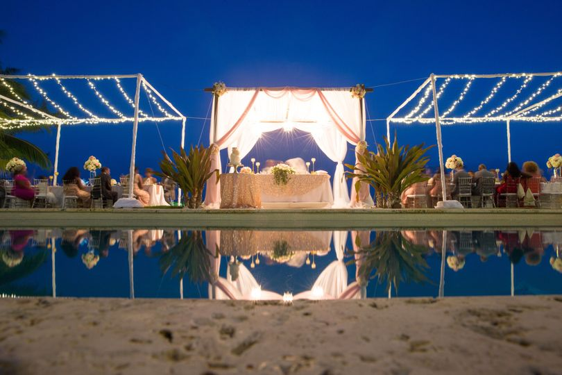 Cayman private villa wedding
