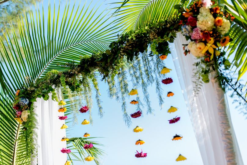 Colorful Boho Wedding Arch