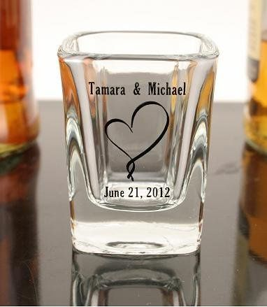 Personalized shot glasses from Gunther Gifts