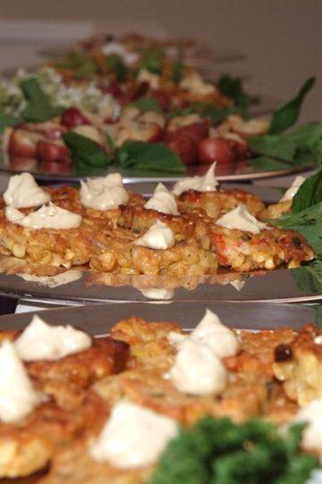 Crisp Corn Cakes w/ Aioli