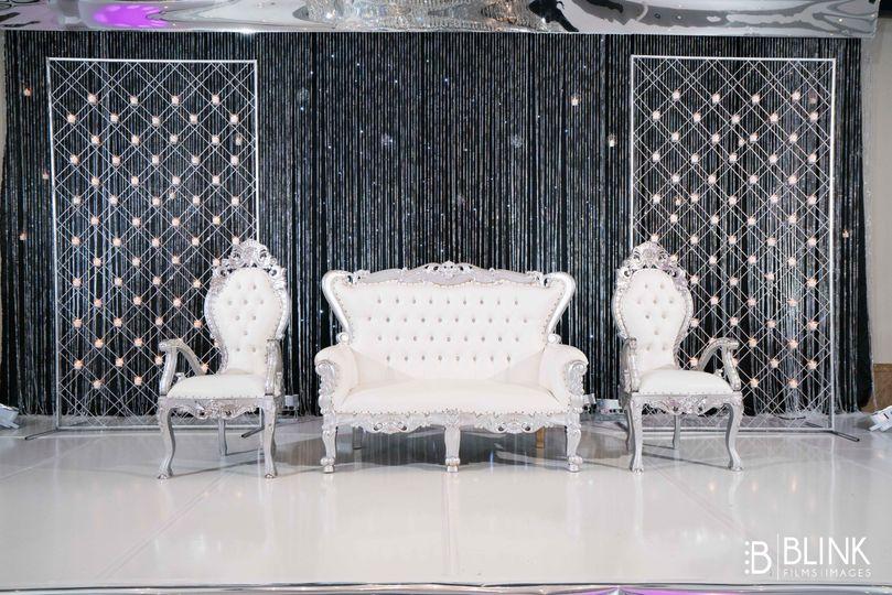 White seating area