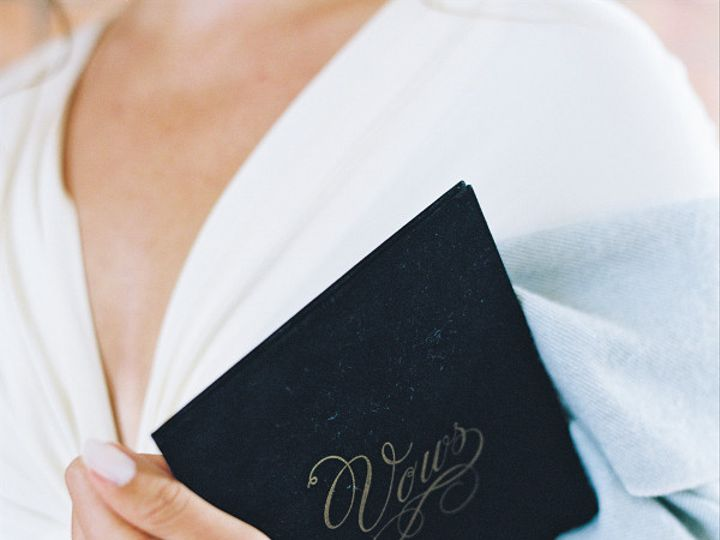 Tmx 1468639091096 Wedding Story Writer Black Flocked Velvet Vow Book Apex, NC wedding invitation