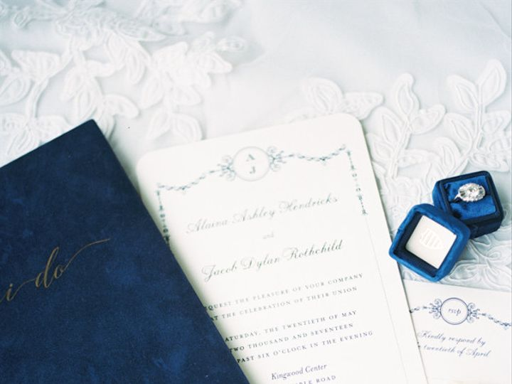 Tmx 1468639305524 Blue Wedding Story Writer Vow Book Mrs Box Apex, NC wedding invitation