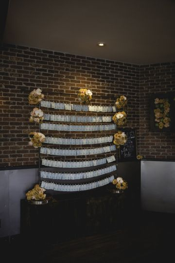 Loved this place card display made by Lits Fits Design Co.