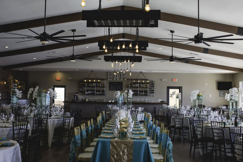 This wedding reception in The Harbor Room accommodated 225 people.