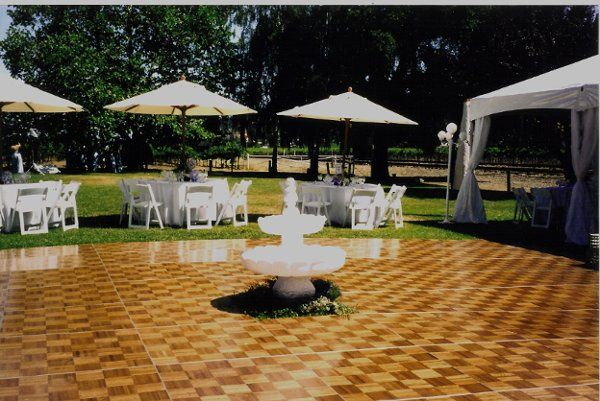Dance floor and fountain