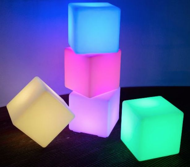Light up cube seats