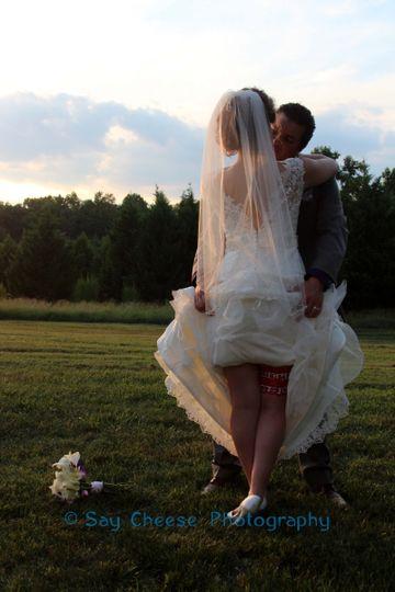 A kiss at sunset - Say Cheese Photography