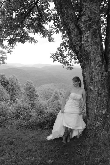Bride in boots - Say Cheese Photography