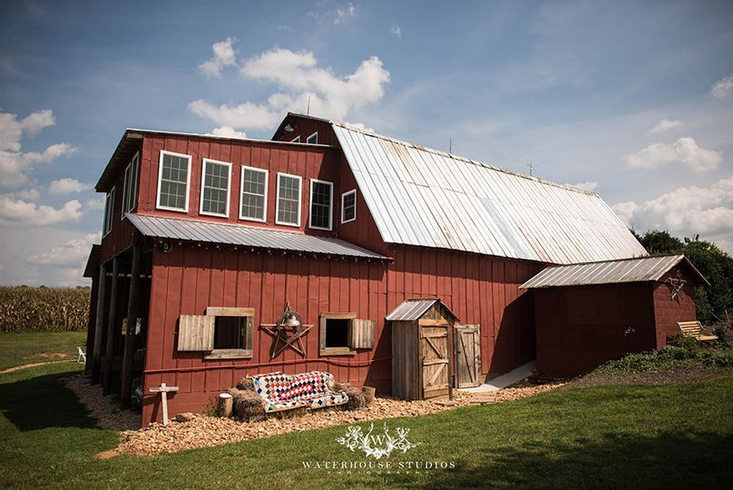 Exterior view of The Barn at Blueberry Hill