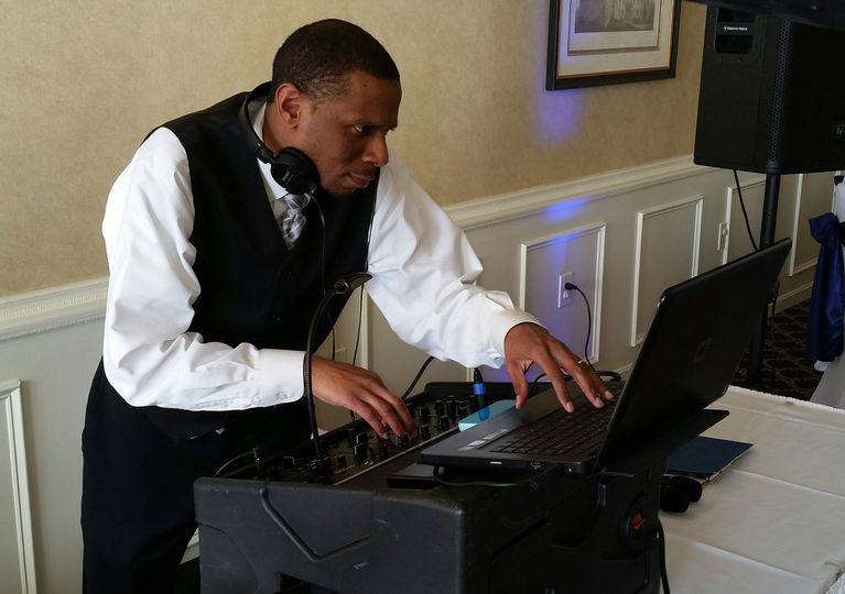 The DJ playing some tunes