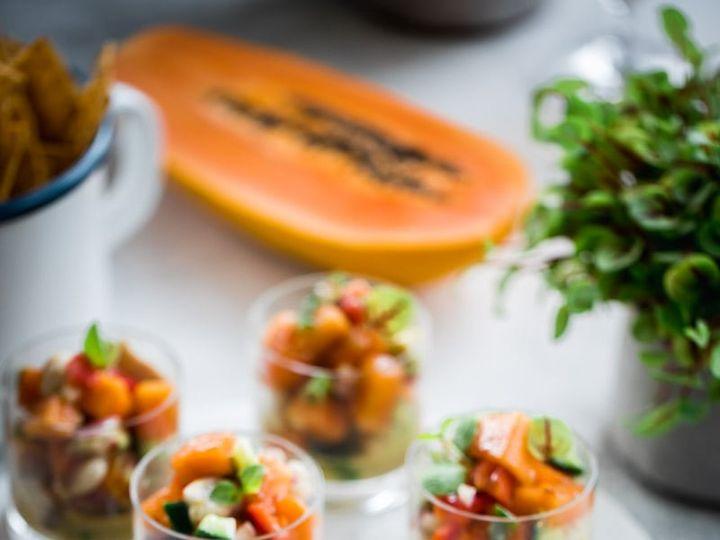 Tmx Papaya Barramundi Ceviche Cups01 51 1978351 159862562381126 Houston, TX wedding catering