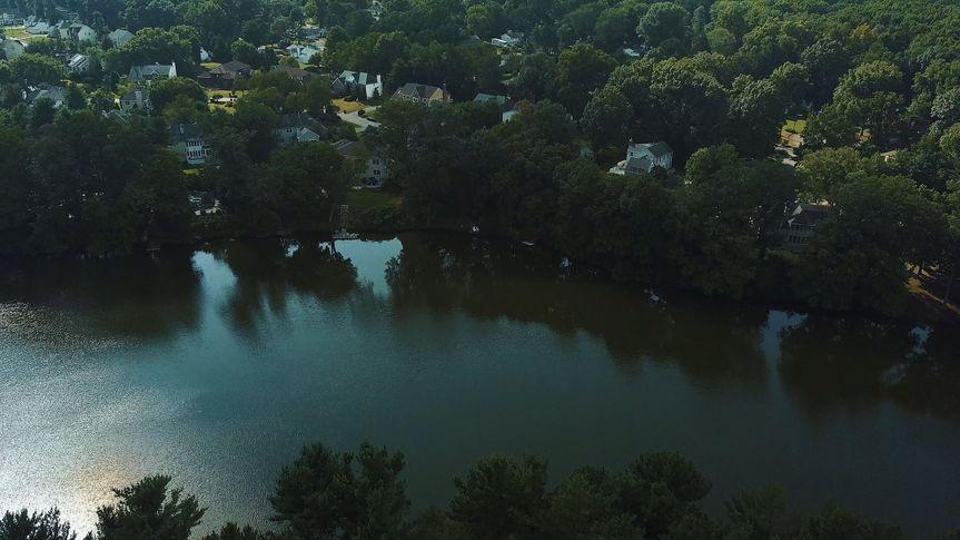 Aerial view of Farrington Lake