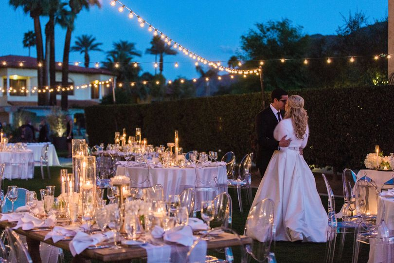 Reception on the mesquite lawn