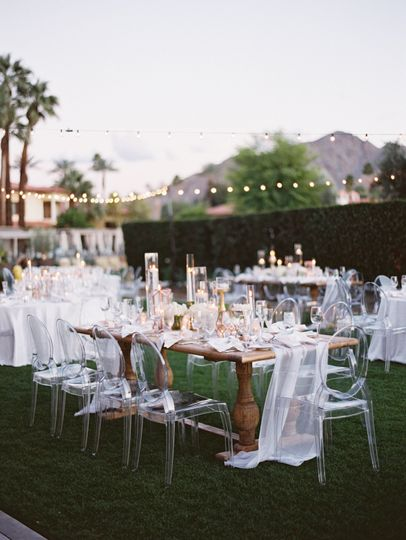 Ceremony on the mesquite lawn
