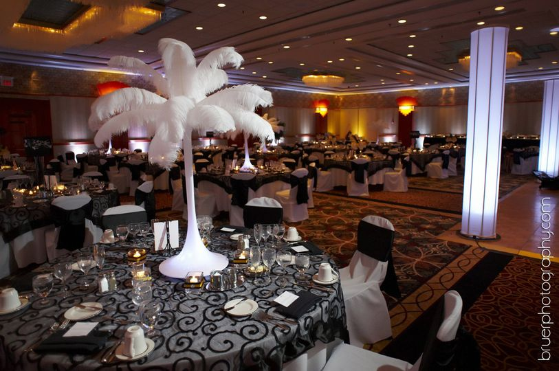 Feathery tall centerpieces